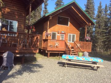 Soldotna cabin rental - Front of the cabins