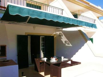 Private terrace and sun shade