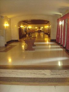 Entrance lobby to building