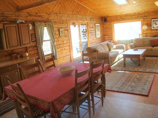Bridgewater Corners cabin photo - Dining area and living room