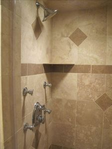 Fenwick Island condo rental - Master Bath Shower