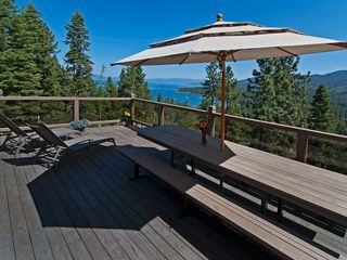 Heavenly Valley cabin photo - 500+ sf deck overlooking Lake Tahoe