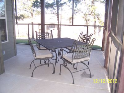 floor level screened patio.