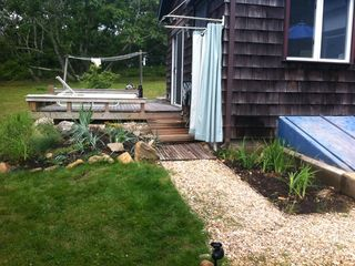 Montauk cottage photo - OUTDOOR SHOWER W/2ND DECK