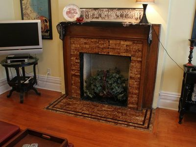 2nd Floor - Decorative fireplace (non-working) and cable TV with free HBO!