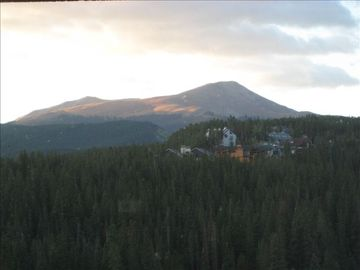 Breckenridge Peak 9 condo rental - Beautiful Sunrise -- Taken from Master Bedroom