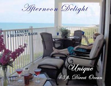 Private 43 ft Corner Balcony  6 Chairs, Love seat, coffee  table. Watch  Liftoff