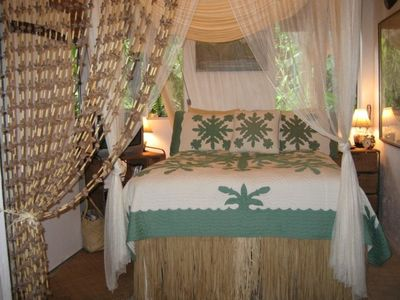 Romantic Mosquito Net covered bed