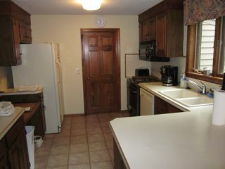 Meredith house photo - Kitchen with jenair stove, dish washer, coffee maker, toaster, fridge/ice maker
