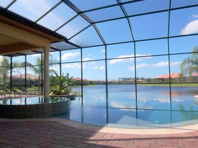 Naples house rental - The Amazing 'wet deck' heated pool and spa