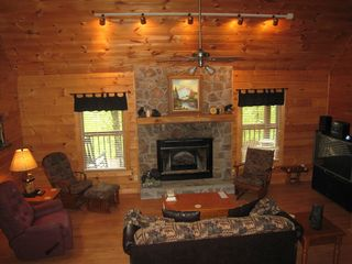Gatlinburg cabin photo - Lots of room for the family to relax, watch TV/movie or play games.