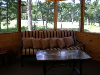 Wisconsin Dells cabin photo - Screened in Porch overlooking the golf course