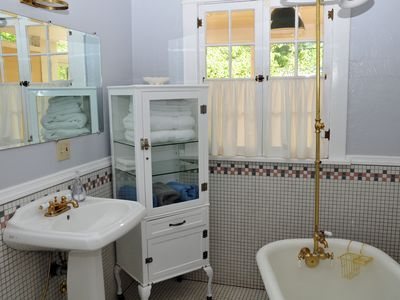 Downstairs Bath with Clawfoot Tub