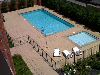 Santiago apartment photo - Swimming pool. View from 1st balcony.