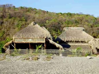 Huatulco house rental - view of house from beach