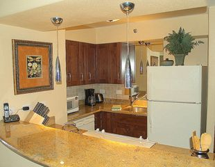Kahana condo photo - Full kitchen with granite countertops