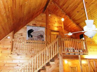 Maggie Valley cabin photo - Loft with extra sleeping space
