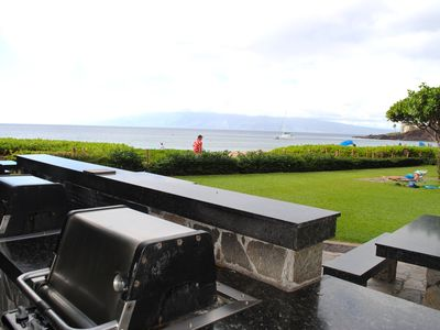 Ocean front grills @ The Whaler. One of two sets of grills available.