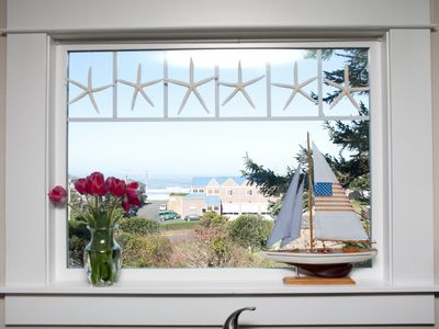 Newport house rental - View from the kitchen window.