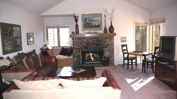 Our living room has ample natural lighting, beautifully decorated, warm and cozy