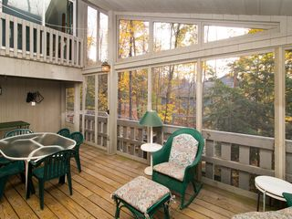Quechee house photo - Large Screened-in Patio Area.