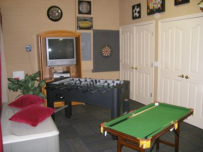 Games room with lots to do. Includes an exercise bike for those with xtra energy