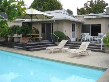 Santa Barbara house rental - 2 DECKS WITH TABLES, 2 BBQ'S, 2 CHASE LOUNGES, FRU