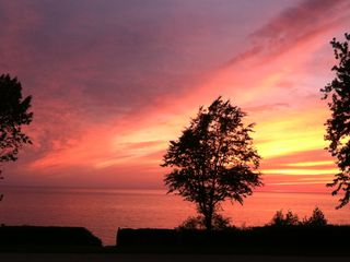South Haven house photo - Gorgeous sunset from deck