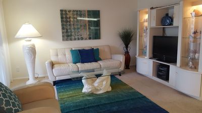 Living Room With Lanai Access, Flat Screen TV, DVD & Stereo