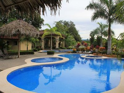 Casa Sol is located in a beautiful gated community with two large pools.