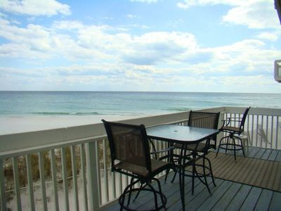 Deck view of the beach