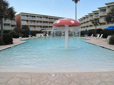 Galveston condo rental - 2nd pool on property
