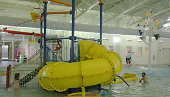Bathesda Water Park. Giant waterslide, river channel, 4-lane pool.Open yr-round.
