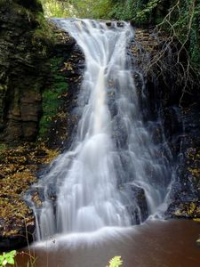 Hareshaw Linn waterfall at Bellingham