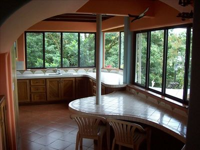 Hand Crafted Kitchen with Beautiful Tile Work and Views to Die For