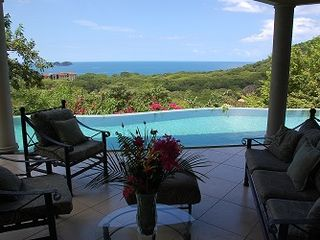 Playa Hermosa house photo - Central Pool Patio View