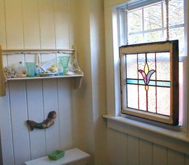 Stained glass window - Old Orchard Beach house vacation rental photo