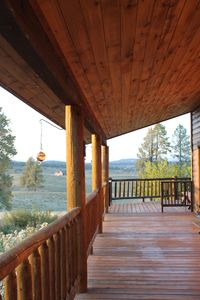 Enjoy the front porch to watch hummingbirds and other wildlife.