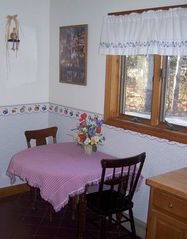 Bar Harbor house photo - Kitchen breakfast table can expand to seating for four people.