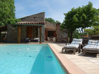 Lovely house in a powerful place in the heart of Ardeche with swimming pool
