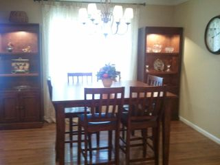 Carters chateau / country house photo - Dining room with square pub table seats eight with the two extra chairs.