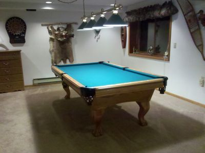 Pool table for family and friends to truly enjoy each others company.