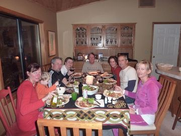 The dining room. Food brings everyone together!