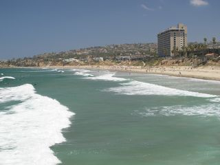 Pacific Beach apartment photo - Fantastic view from the water back to Villa Blanca