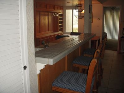 view of the kitchen counter