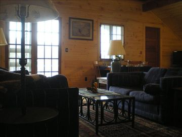 Lake Placid chalet rental - living area