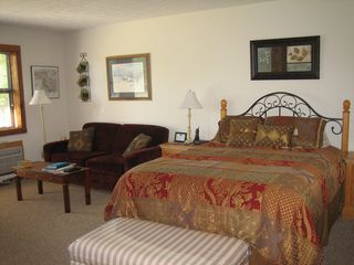 Canaan Valley studio photo - Queen bed and sleep sofa