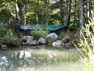 Cabin and koi pond - Blakeslee cabin vacation rental photo