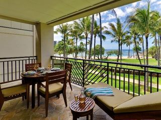 Kahuku - Turtle Bay condo photo - Your Private Lanai with Beach & Ocean 70 Feet Away!