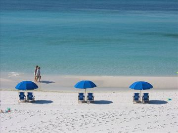 Mary Esther condo rental - View from our 3rd floor balcony - 2 beach chairs and umbrella are included